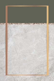 2つのトーンの大理石の背景の長方形のフレーム