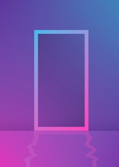 Rectangle frame purple gradient