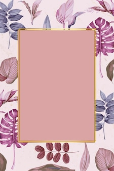 Rectangle frame on a tropical background