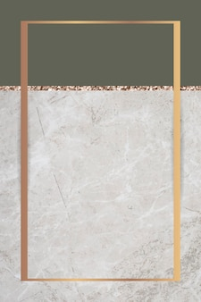 Rectangle frame on two tones marbled background