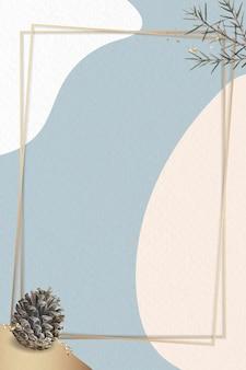 Rectangle gold frame on minimal background