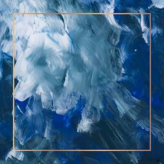 Прямоугольная золотая рамка на абстрактном фоне