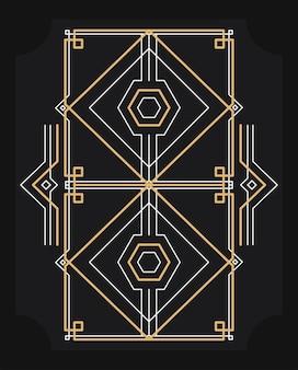 長方形の黄金フレーム