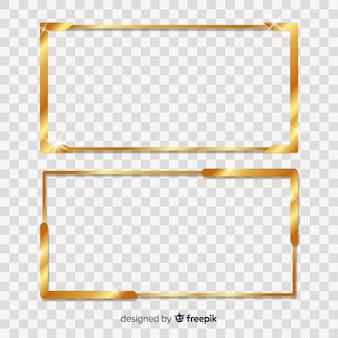Cornice dorata rettangolare