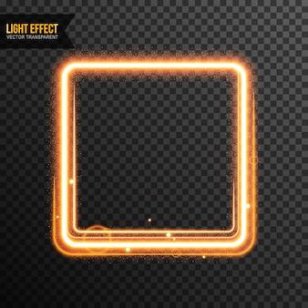Rectangle light effect vector transparent
