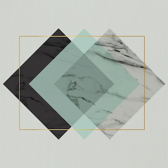 Rectangle rhombus frame design