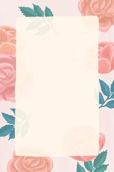 Рамка прямоугольник роза