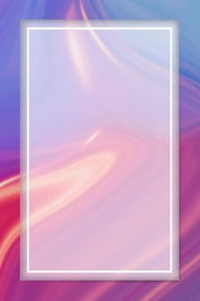 Rectangle white frame on fluid patterned background