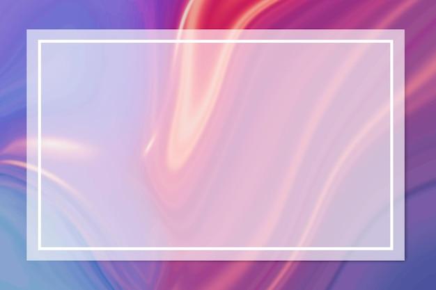 流動的な背景の上の長方形の白いフレーム 無料ベクター