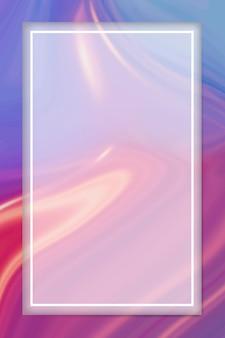 流体パターンの背景に長方形の白いフレーム