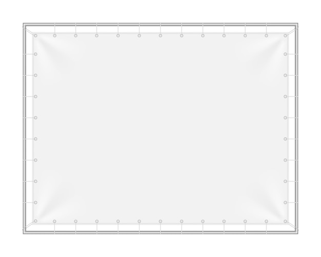 Rectangular background with iron frame.