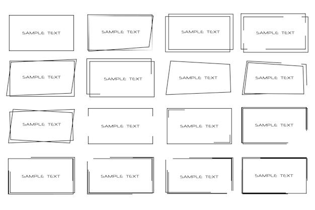 텍스트에 대한 직사각형 검은색 프레임 태그 레이블 카드에 대한 배경