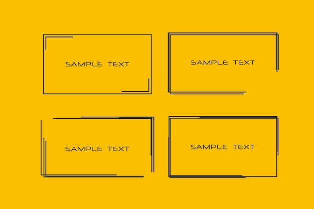 Rectangular black frames for your text backgrounds for tags labels cards