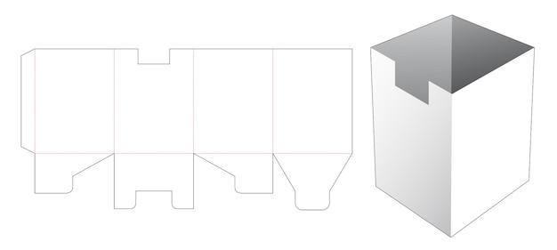 직사각형 그릇 상자 다이 컷 템플릿