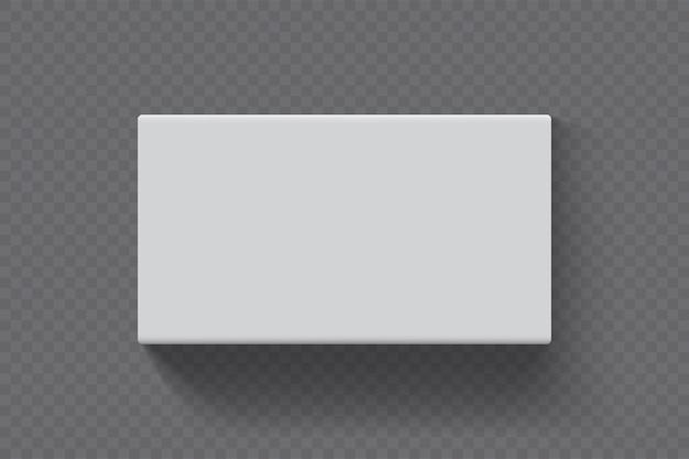 Прямоугольная коробка на прозрачном фоне