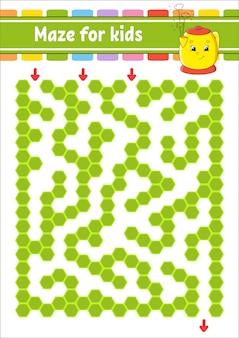 Rectangular color maze. game for kids.