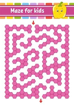 Прямоугольный цветной лабиринт.