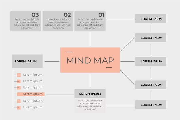 Rectangular mind map template