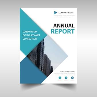 Rectangular professional annual report template