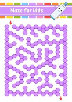 Rectangular purple maze