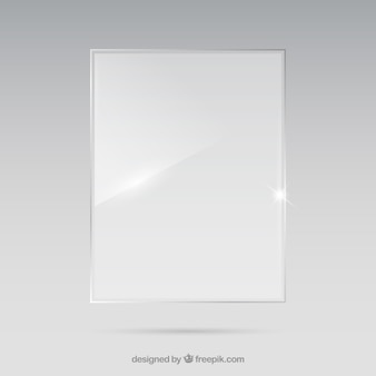 Rectangular shaped glass frame in realistic style