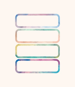 Rectangular shaped watercolor backgrounds vector