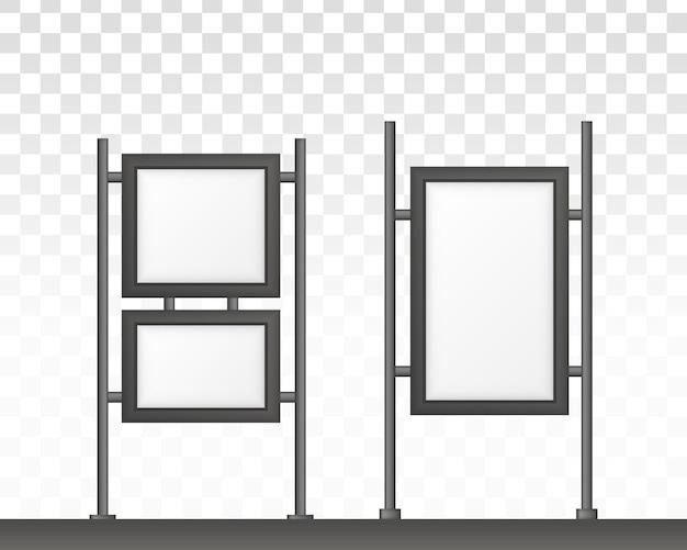 직사각형 간판 라이트 박스 간판. 디지털 간판 흰색 배경에 고립입니다.