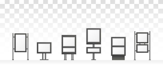 Rectangular signage light box signboard. digital signage isolated on white background. advertising