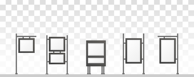 Rectangular signage light box signboard. digital signage isolated on white background. mockup to advertising. illustration,  .