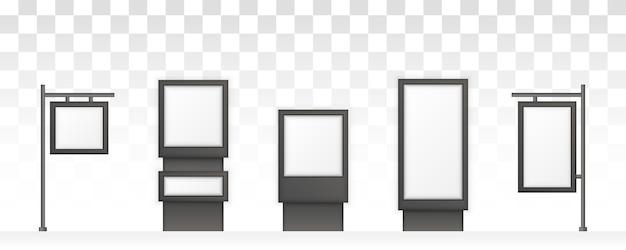 Rectangular signage light box signboard. digital signage isolated on white background.