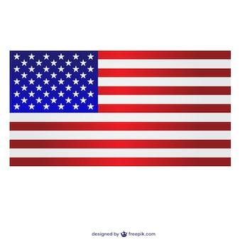 Rectangular united states flag