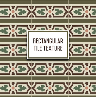 Rectangular vintage tile