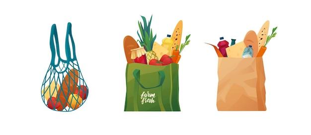Перерабатываемые эко-пакеты с едой