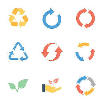Recycle and ecology flat  pack