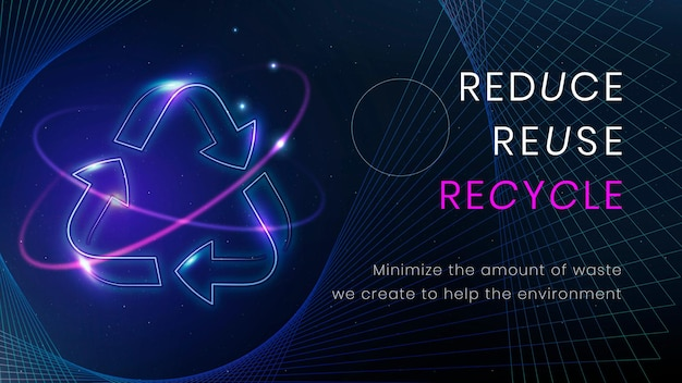 Recycle environment banner template vector
