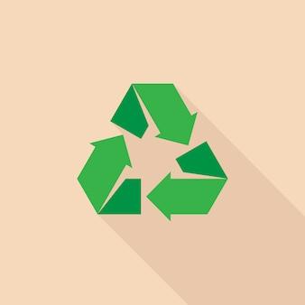 Recycle icon flat design illustration