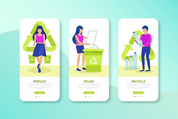Recycle mobile interface design