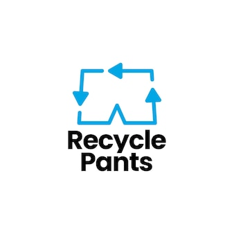 Recycle pant logo template
