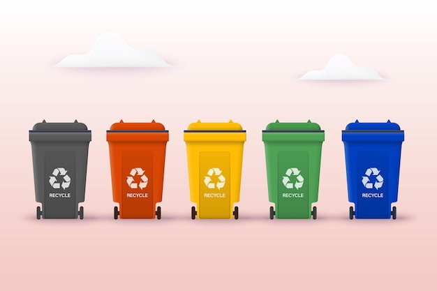 Recycle for save the earth and keep environment plastic can be use for template 3d illustrations