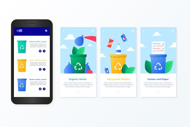 Recycle service onboarding app