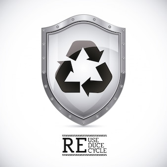 Recycle shield