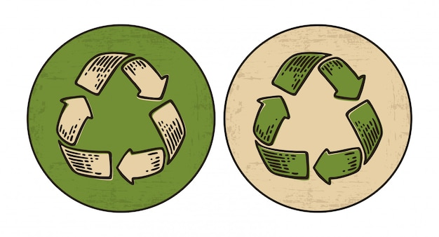 Recycle sign set