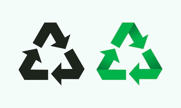 Recycle symbol environment friendly sign