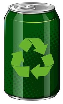 緑の缶のリサイクルシンボル