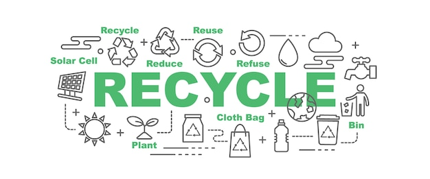 Recycle vector banner
