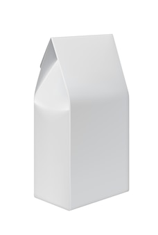 Recycle white paper bag for food