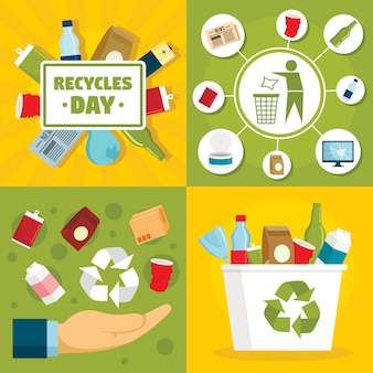 Recycles day background