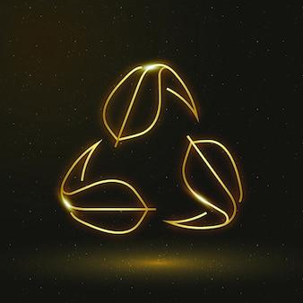 Recycling icon vector environmental conservation symbol