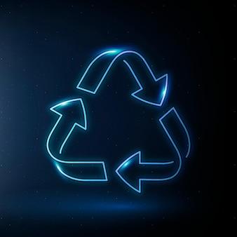 Simbolo di conservazione ambientale di vettore dell'icona di riciclaggio