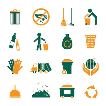 Коллекция иконок переработка